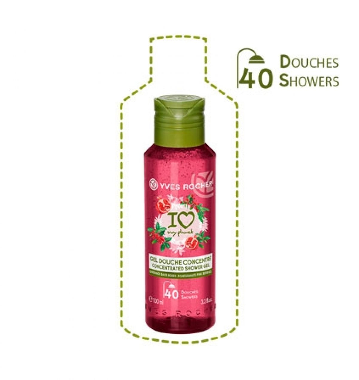 Yves Rocher Gel Douche Concentré Grenade Baies Roses concernant Mini Gel Douche