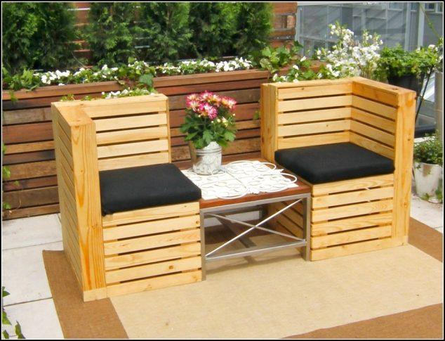 13 Cool Diy Outdoor Furniture Made Of Pallet avec Plan Salon De Jardin En Palette
