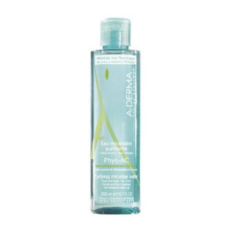 A Derma - Phys-Ac Micellar Purifying Water - Face - Glams concernant A Derma