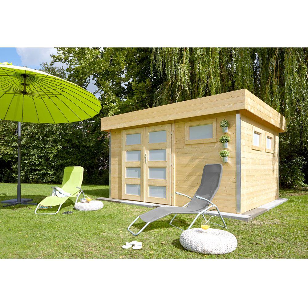 Abri De Jardin Bois 12,8 M² Ep. 28 Mm Toit Plat Comfy 120 avec Abri De Jardin Design Toit Plat