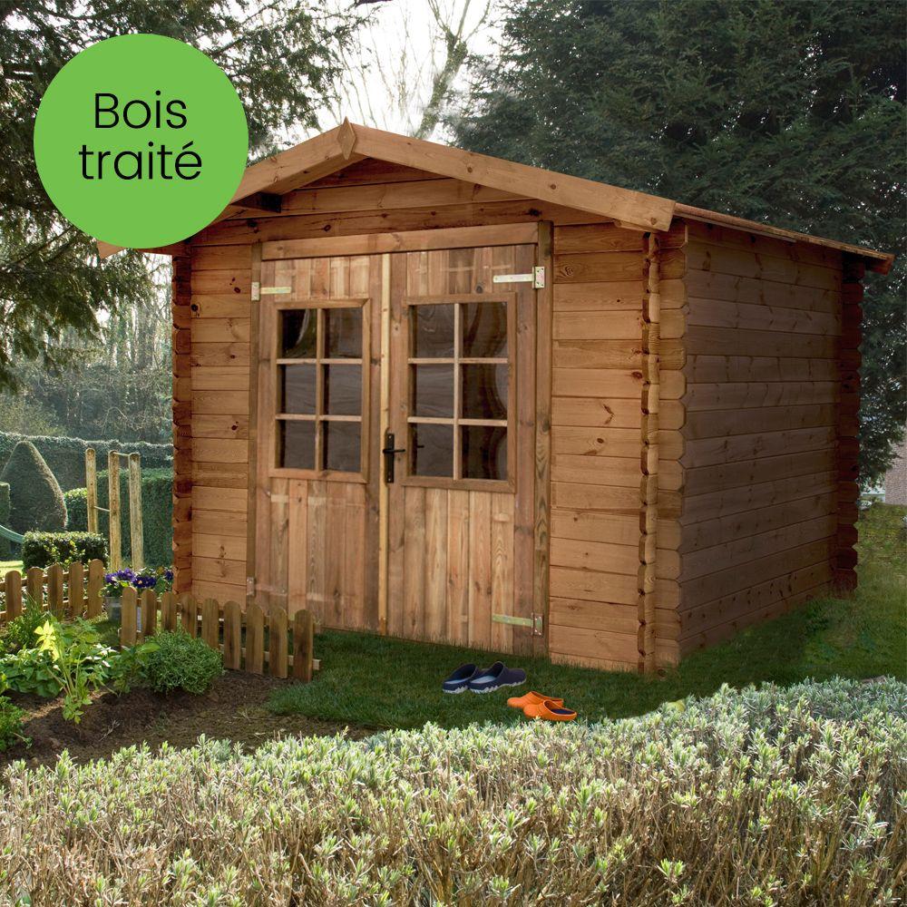 Abri De Jardin Bois Traité Autoclave 7,18 M² Ep. 19 Mm destiné Abri De Jardin En Bois