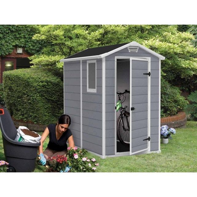 Abri De Jardin Résine Premium 46 Gris - 2 M² Gris Keter pour Abri De Jardin En Resine 10M2