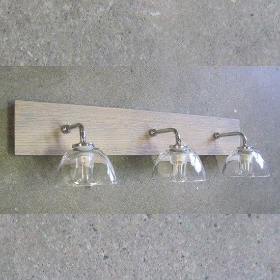 Applique Salle De Bain Aurore 3 Lampes | Luminaire Salle tout Applique Salle De Bain Avec Interrupteur