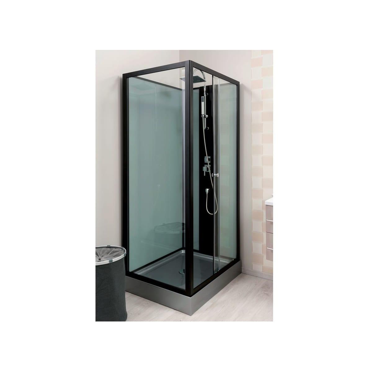 Aqua Plus - Cabine De Douche Porte Coulissante - 80 X 100 serapportantà Porte De Douche Pas Cher