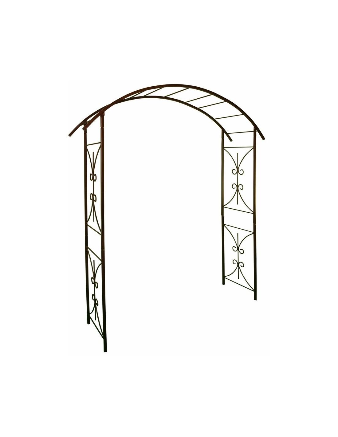 """Arche Double """"Décor Pont"""" Louis Moulin 180X50Xh220 Cm pour Arche Fer Forgé"""