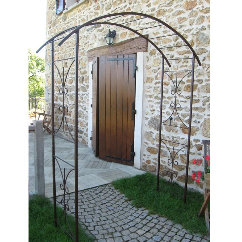 Arche Double Décor Pont - Vente D'Arches De Jardin avec Arche Fer Forgé