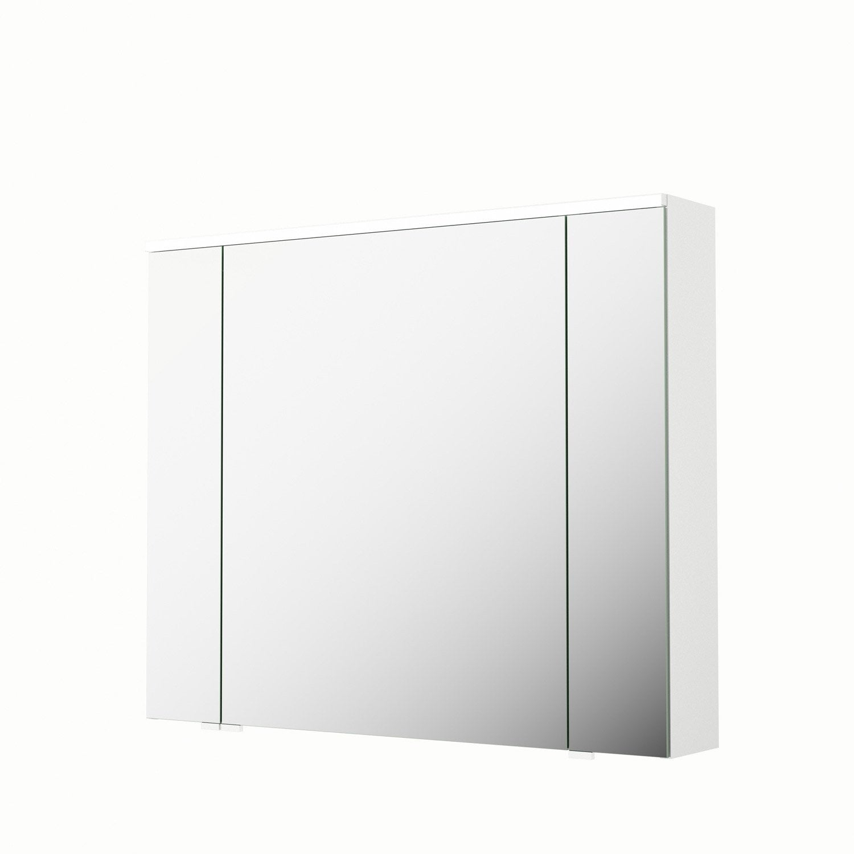 Armoire De Toilette Lumineuse L. 90 Cm, Blanc, Sensea Neo dedans Armoire De Toilette Brico Depot