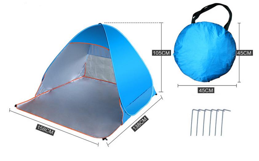 Automatique Pop Up Camping Anti Uv Tente De Plage-Tente-Id à Tente De Plage Decathlon