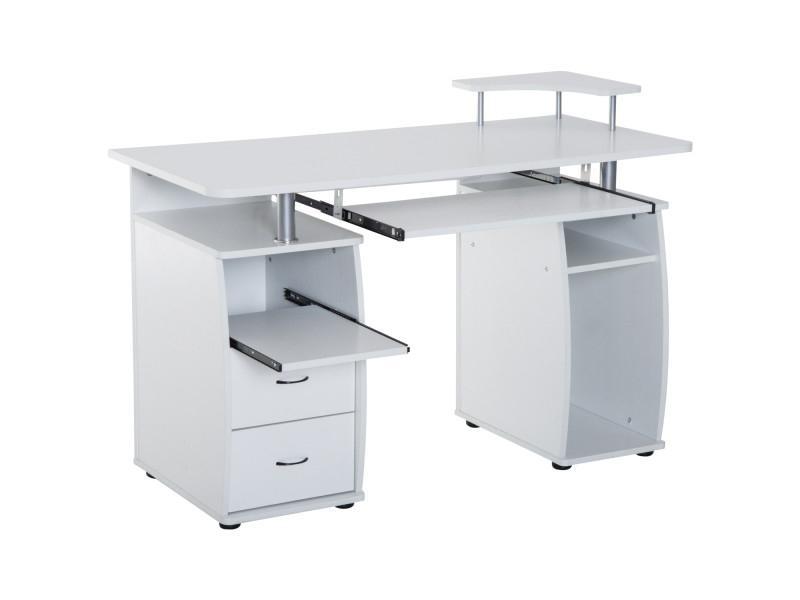 80cm Table Dordinateur Bureau Informatique Pc Poste De Travail Etageres Tiroir Informatique I Computer Table Design Computer Table Unique Office Furniture