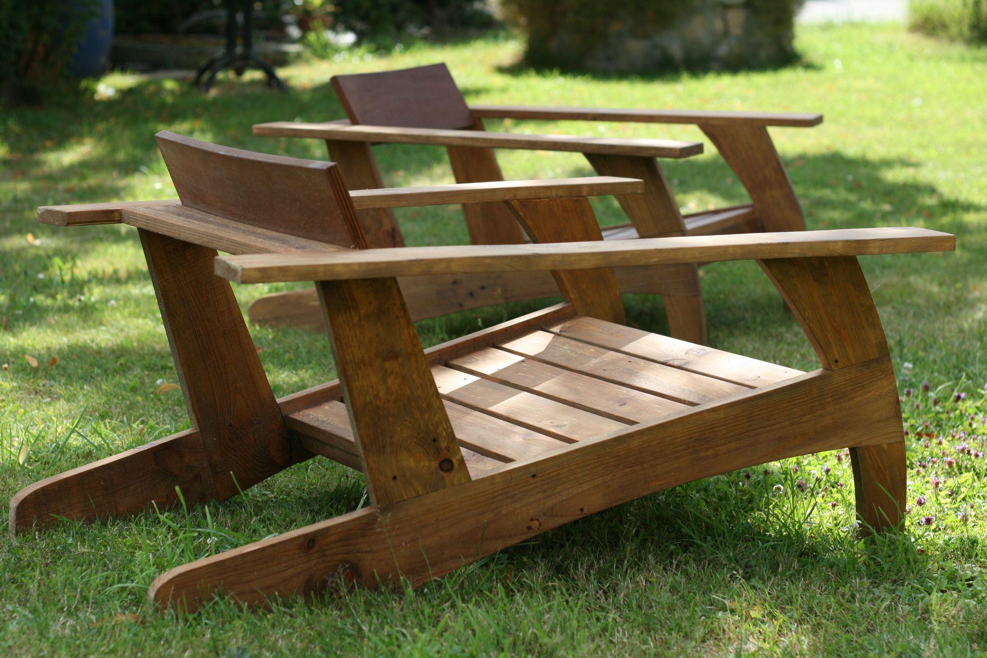 Chaise En Bois De Palette (Design Année 30) : Meubles Et à Plan Salon De Jardin En Palette