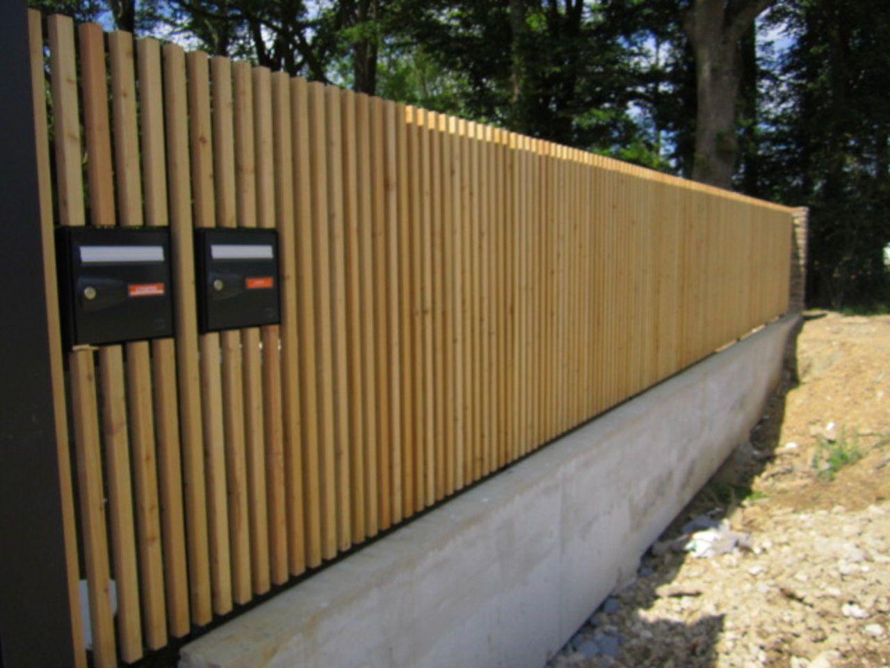 Clotures De Maison Click To Enlarge Image Ajoure Verticale à Cloture Bois Jardin