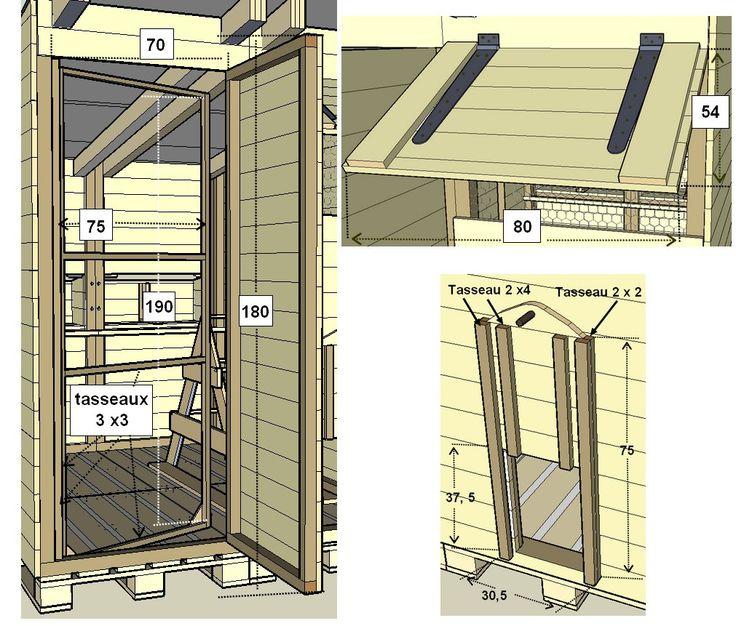 Construction D'un Poulailler En Palettes Modulable- Plan concernant Poulailler En Palette