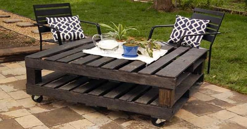 Faire Un Salon De Jardin En Palette | Deco-Cool intérieur Plan Salon De Jardin En Palette