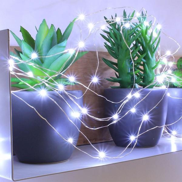 Guirlande 150 Micro Led Blanc Pur Animée - Eclairage Design pour Guirlande Lumineuse Exterieur Professionnel
