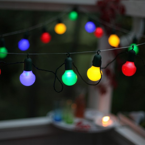 Guirlande Fête Avec Crochet Multicolore - Eclairage Design dedans Guirlande Lumineuse Exterieur Professionnel
