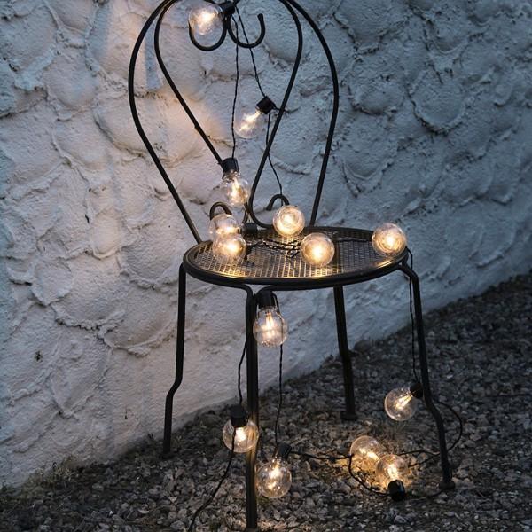 Guirlande Led Deco Ampoule Blanc Chaud - Eclairage Design dedans Guirlande Lumineuse Exterieur Professionnel