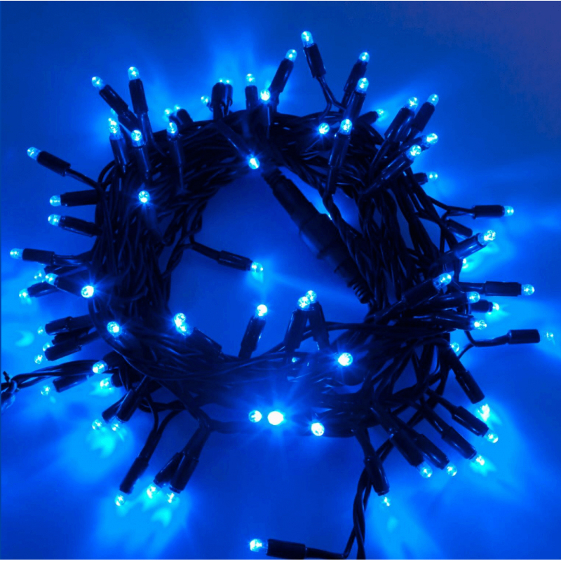 Guirlande Lumineuse Led 10M Bleue Raccordable dedans Guirlande Lumineuse Exterieur Professionnel