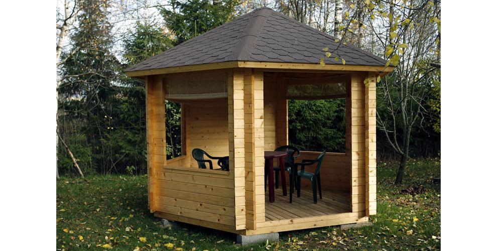 Kiosque De Jardin Bois Hexagonal Stromboli - Oogarden France concernant Kiosque De Jardin