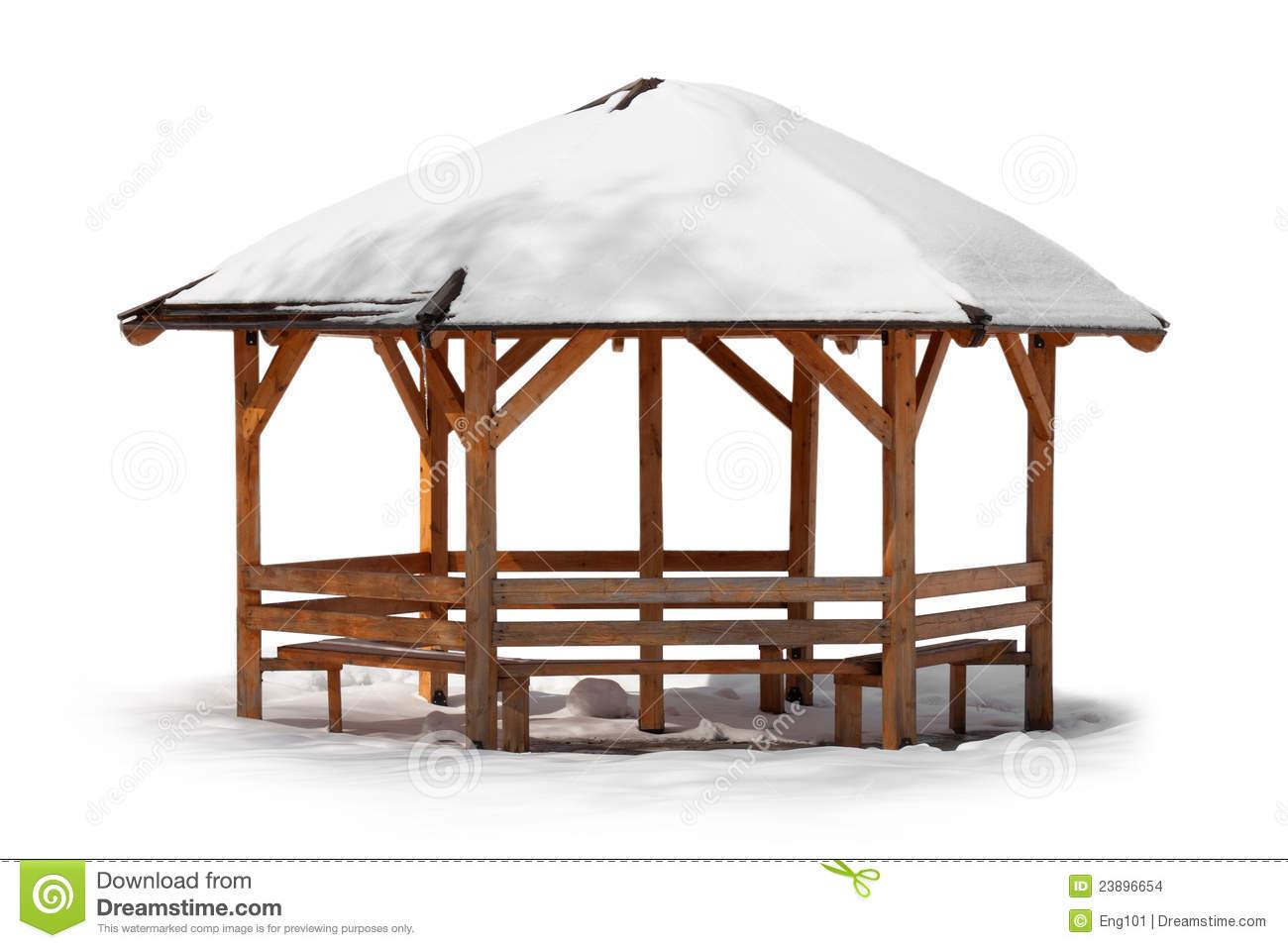 Kiosque De Jardin Dans L'Hiver Photo Stock - Image Du concernant Kiosque De Jardin