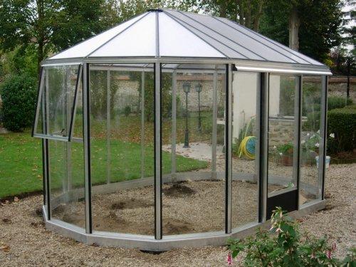 Kiosque De Jardin En Aluminium - Serre Euro Exotic Alu pour Kiosque De Jardin