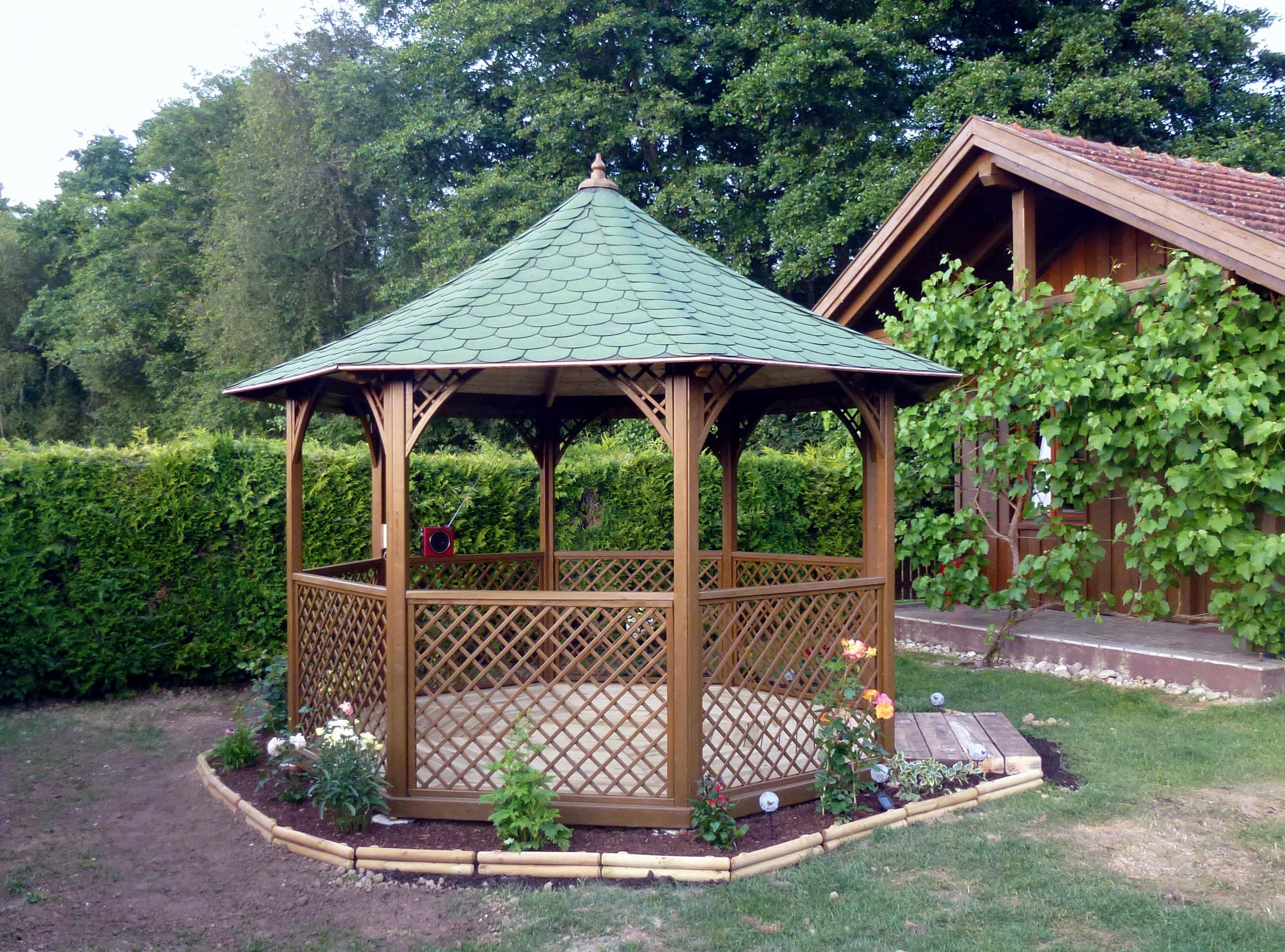 Kiosque De Jardin En Bois De Le Plus Grand Emejing Kiosque dedans Kiosque De Jardin