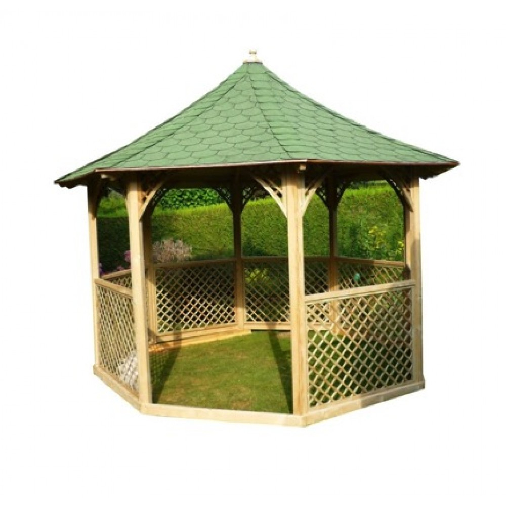 Kiosque De Jardin Octogonal - Diamètre 3,5 M - Hauteur 4,1 à Kiosque De Jardin