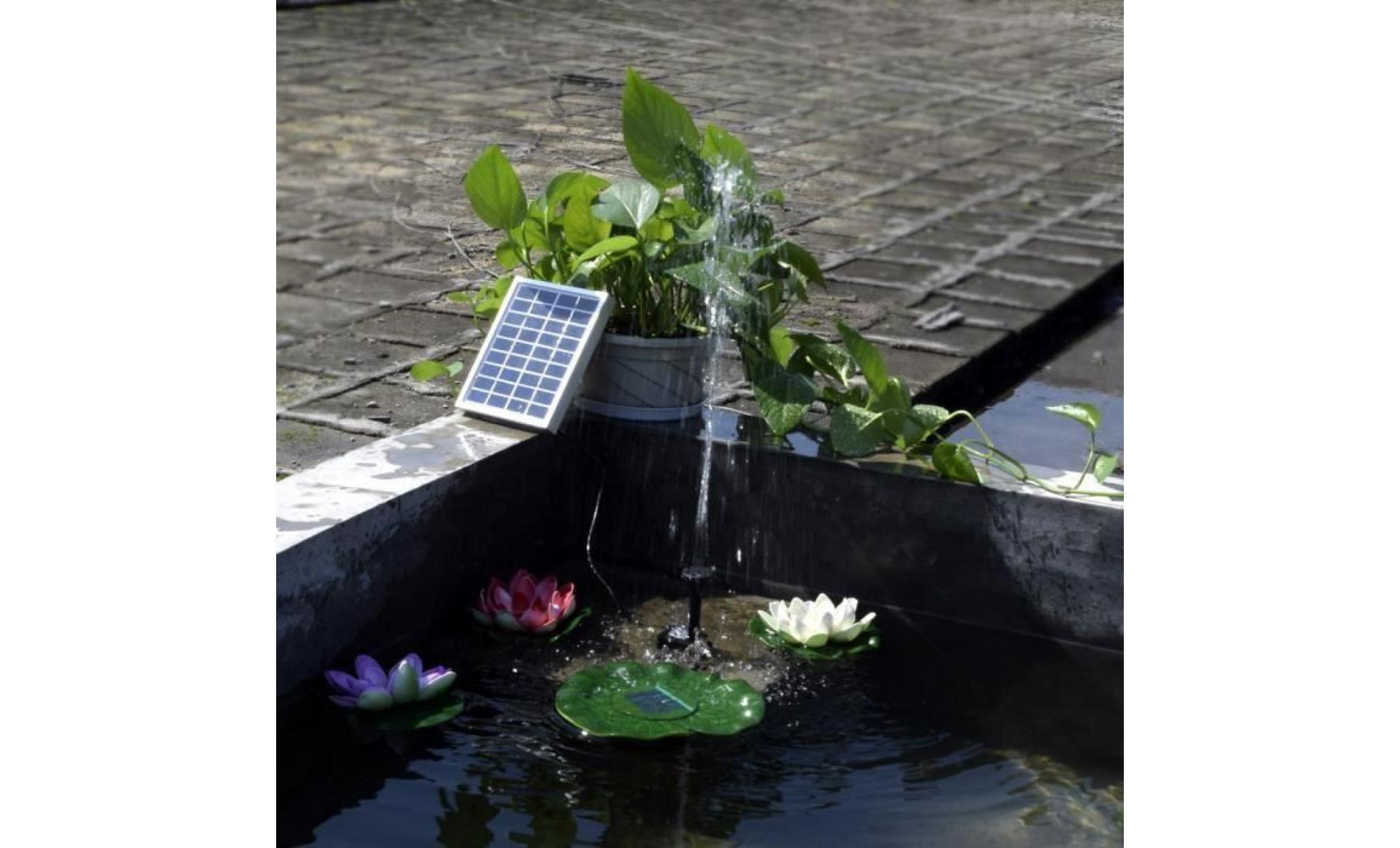 Kit Pompe Solaire Pour Bassin De Jardin Avec Panneau serapportantà Pompe Solaire Bassin