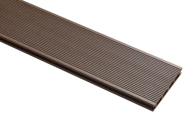 Lame De Terrasse Composite Chocolat L. 3 M X L. 14,5 Cm X avec Lame De Terrasse Composite Brico Depot