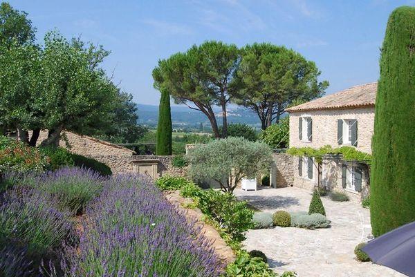 Mas En Provence - Lavender, Olive Trees. The Cupressus encequiconcerne Jardin De Provence