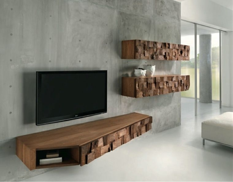 Meuble Télé Suspendu Moderne Pour Un Salon Minimaliste destiné Meuble Suspendu Salon