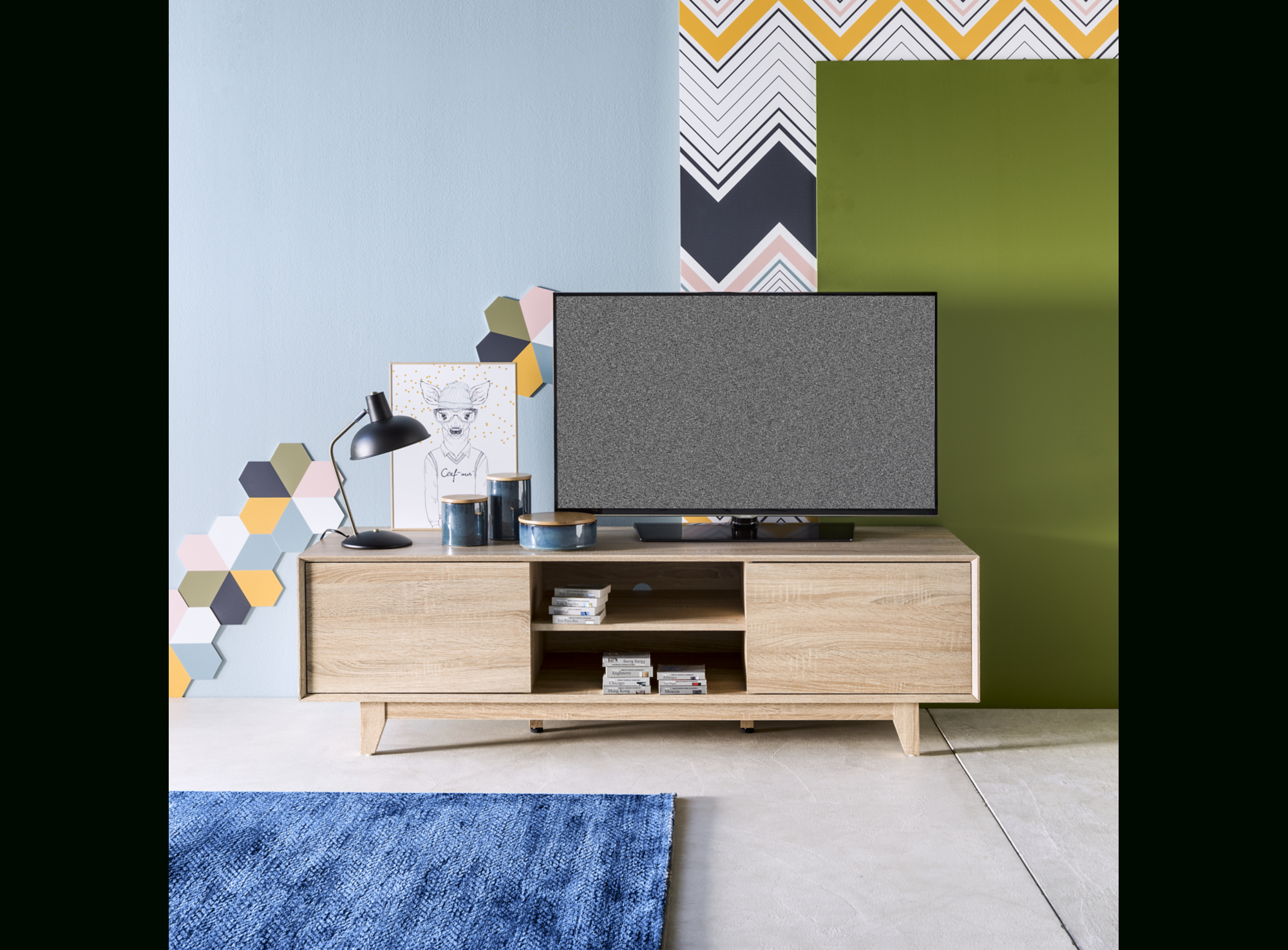 Meuble Tv Chene Sonoma - Meuble Tv - Salon & Séjour serapportantà Meuble Tele Fly