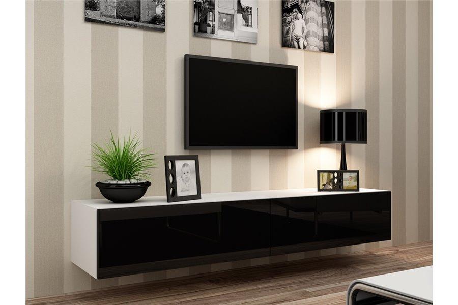 Meuble Tv Design Suspendu Vito 180Cm - Chloe Design à Meuble Suspendu Salon