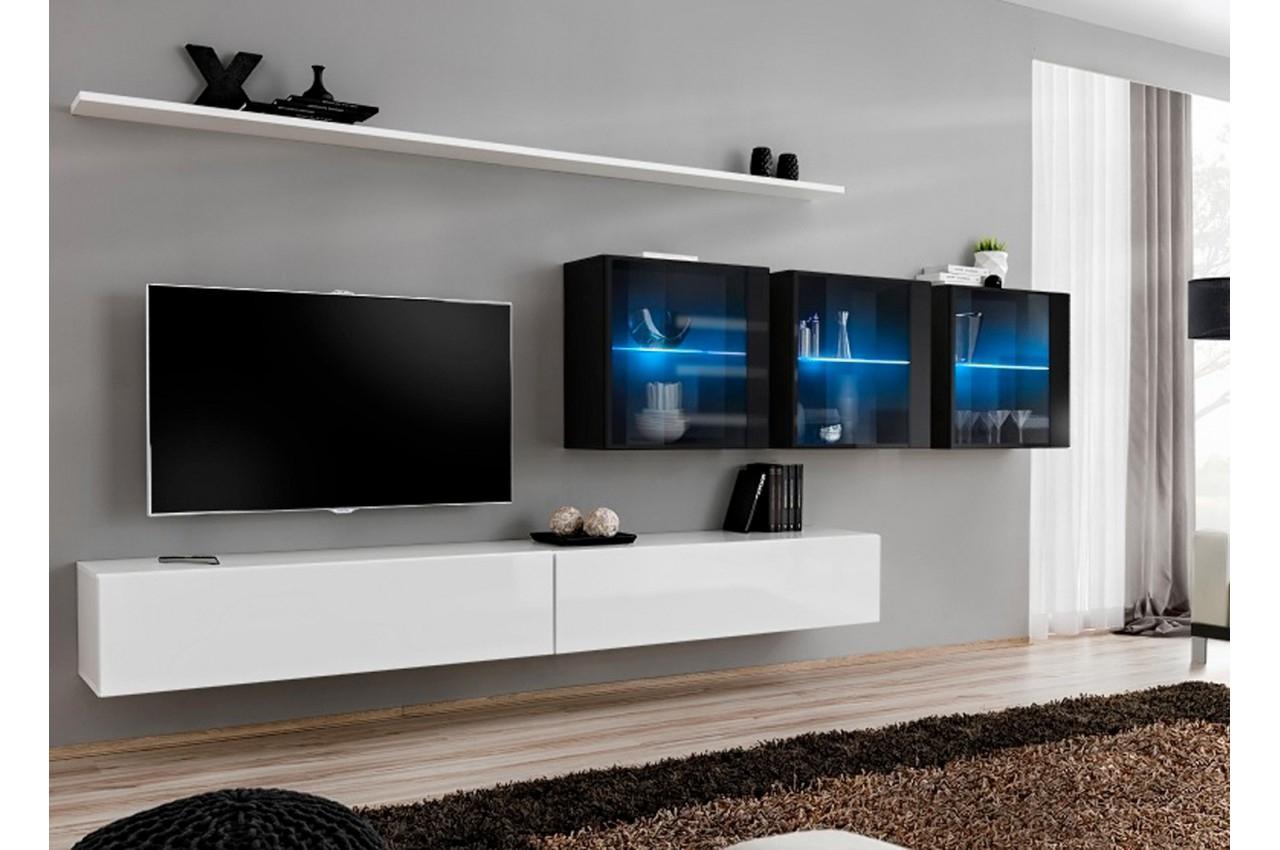 Meuble Tv Moderne Suspendu Costa 17 - Cbc-Meubles destiné Meuble Suspendu Salon