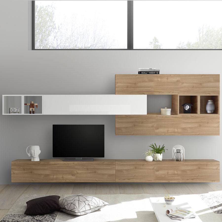 Meuble Tv Suspendu Design, Meuble Tv Avec Rangement, Meuble Tv tout Meuble Suspendu Salon