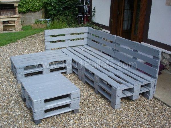 Pallets Garden Lounge / Salon De Jardin En Palettes Europe avec Plan Salon De Jardin En Palette