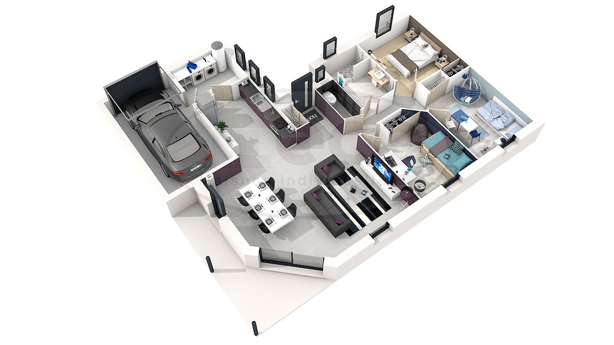 Plan De Maison Moderne 3d Postcoitum A Bache Epdm Brico Agencecormierdelauniere Com
