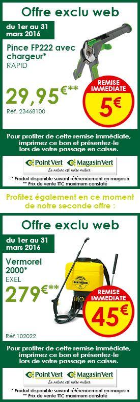 Promo Exclu Web Sur Le Site Des #Magasins De #Jardinage avec Point Vert Le Jardin