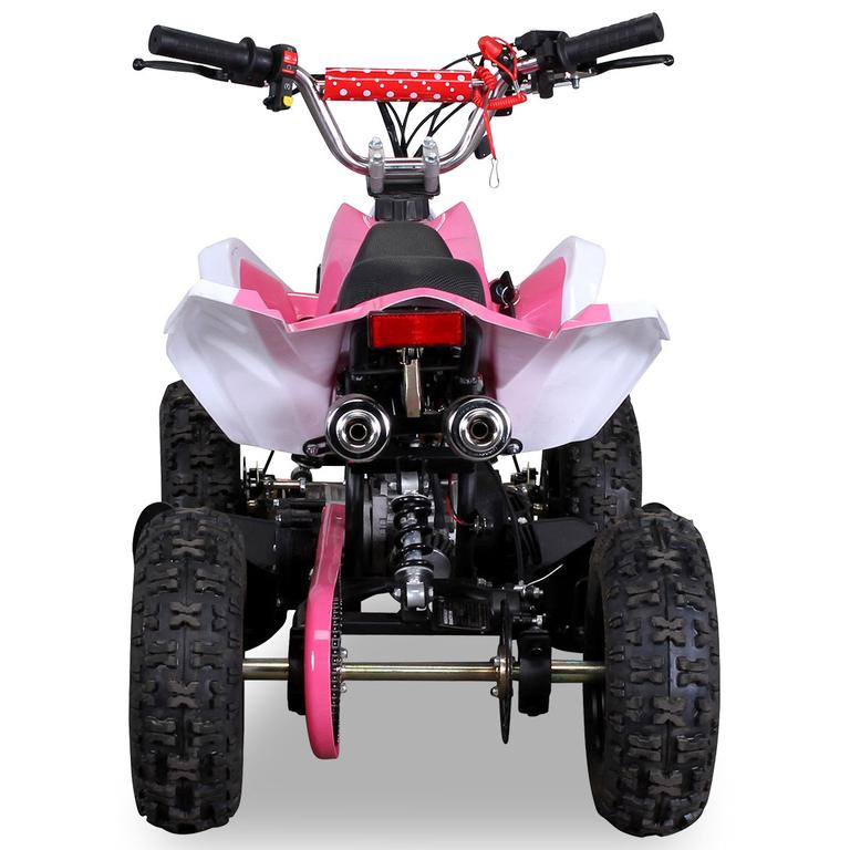 Quad Racer Atv 49 Cc Couleur Blanc & Rose - Quad/Quad dedans Quad Thermique Enfant