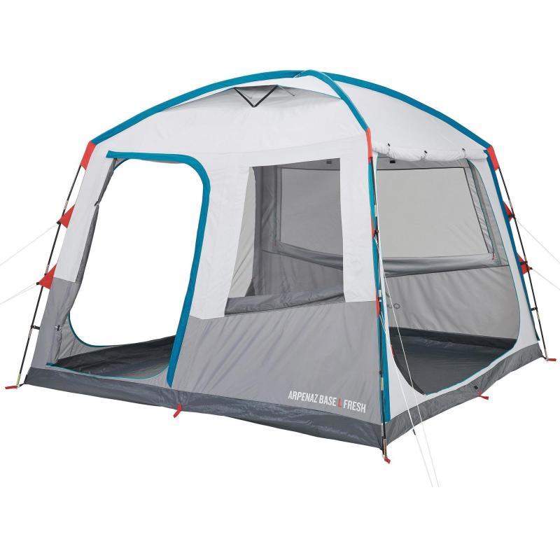 Quechua Arpenaz Base Fresh Large Camping Shelter | 10 Man pour Tente De Plage Decathlon