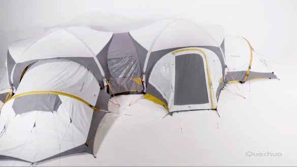 Quechua Msh Decathlon Tent Tente Gonflale Camping Msh My pour Abri Plage Decathlon