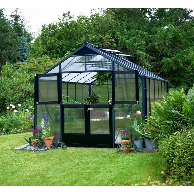 Serre De Jardin 10,9 M² Aluminium En Polycarbonate 10Mm serapportantà Ma Serre De Jardin