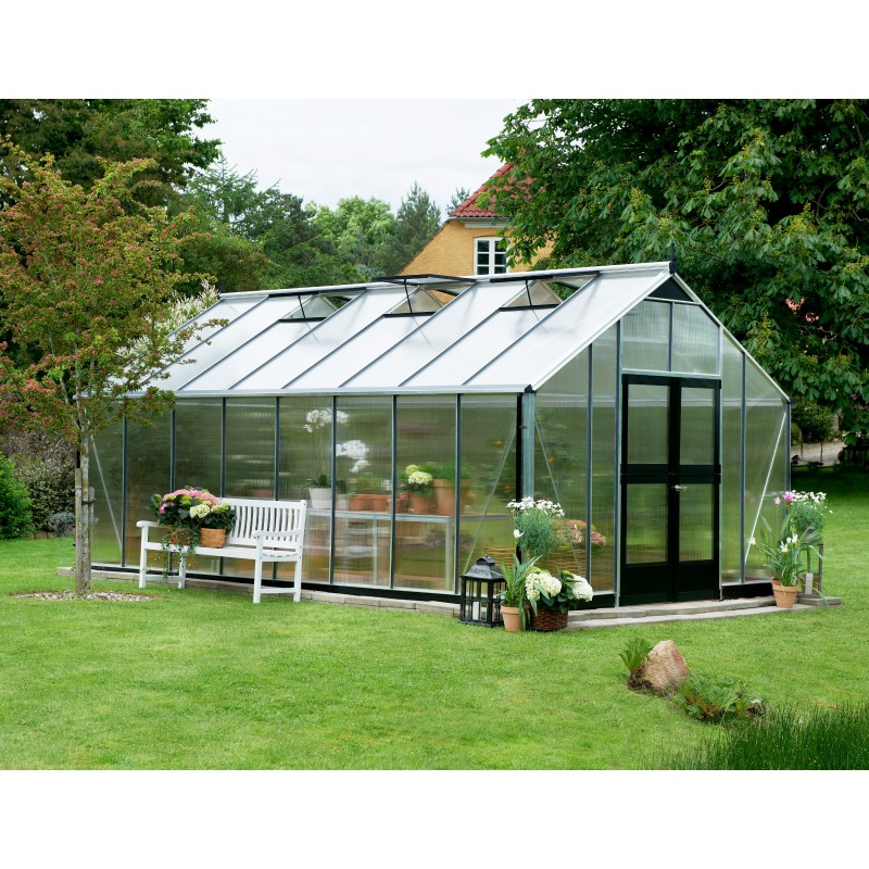 Serre De Jardin 21,4M² En Polycarbonate Gardener - Juliana pour Serre De Jardin Polycarbonate