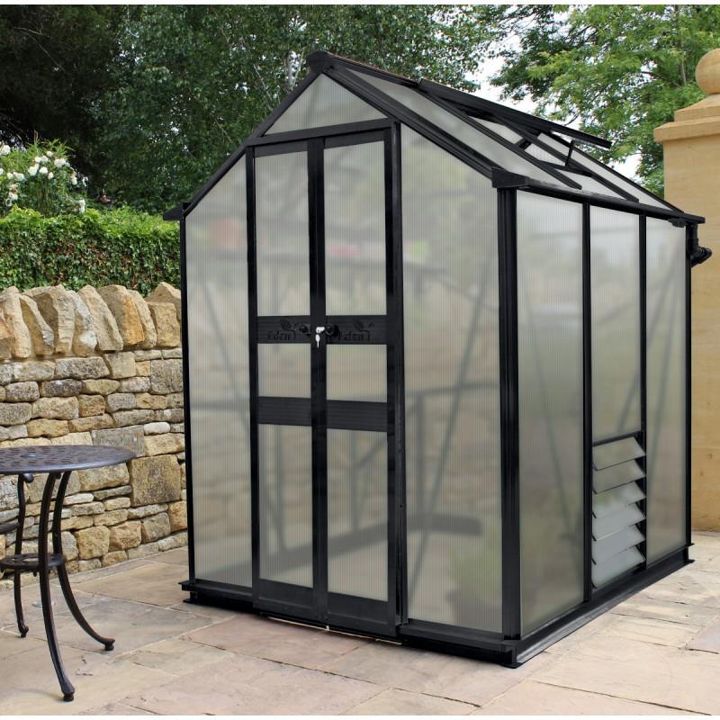 Serre De Jardin 2,87M² Polycarbonate 6Mm Birdlip Noire pour Serre De Jardin Polycarbonate