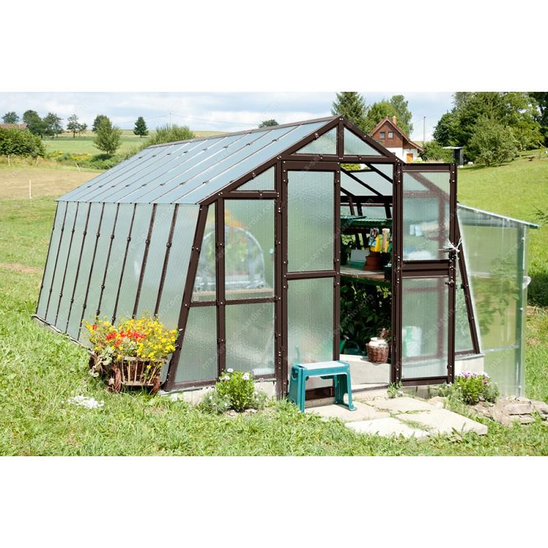 Serre De Jardin 303X452Cm 13,69M² En Polycarbonate 8Mm intérieur Ma Serre De Jardin