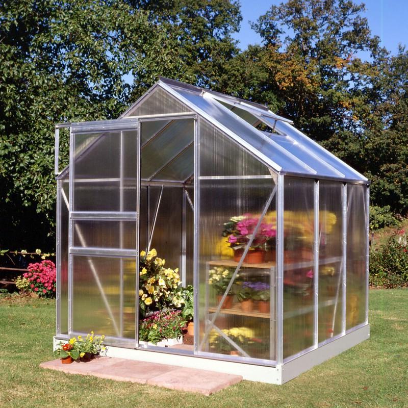 Serre De Jardin 3,8M² En Polycarbonate 4Mm Popular - Halls dedans Serre De Jardin Polycarbonate