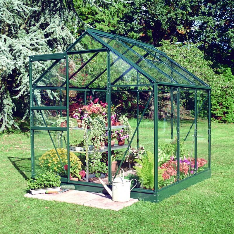 Serre De Jardin 3,8M² Verte En Verre Horticole Popular Halls dedans Ma Serre De Jardin
