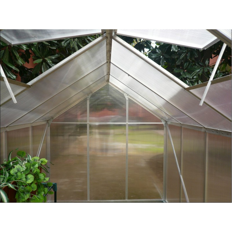 Serre De Jardin 5,92M² En Aluminium Et Polycarbonate + Base dedans Serre De Jardin Polycarbonate
