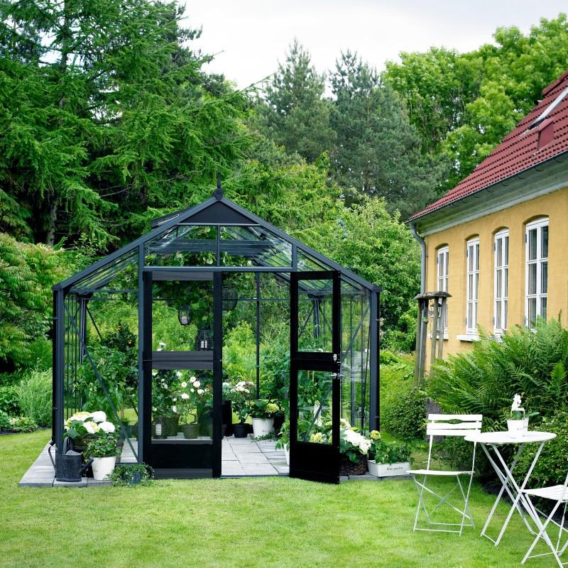 Serre De Jardin 8,8M² Anthracite Et Verre Horticole concernant Ma Serre De Jardin