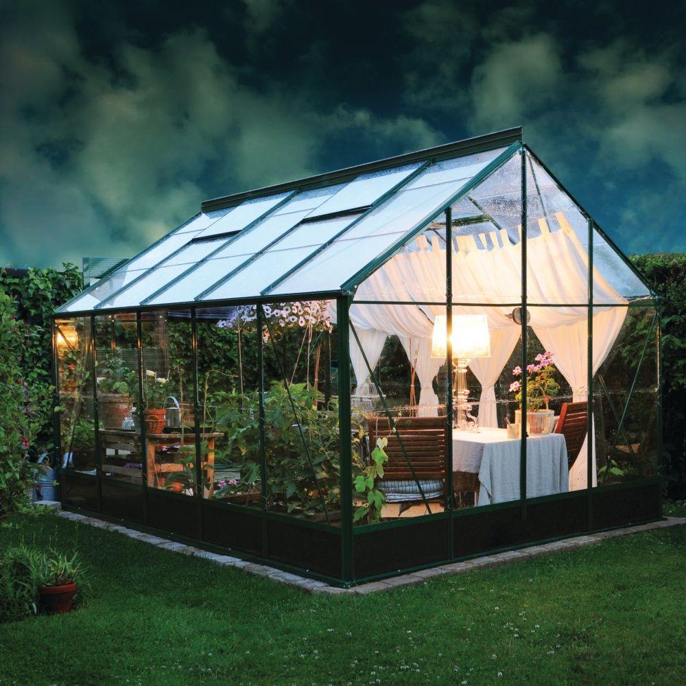 Serre De Jardin Compact Plus Polycarbonate 9.9 M² tout Serre De Jardin Polycarbonate