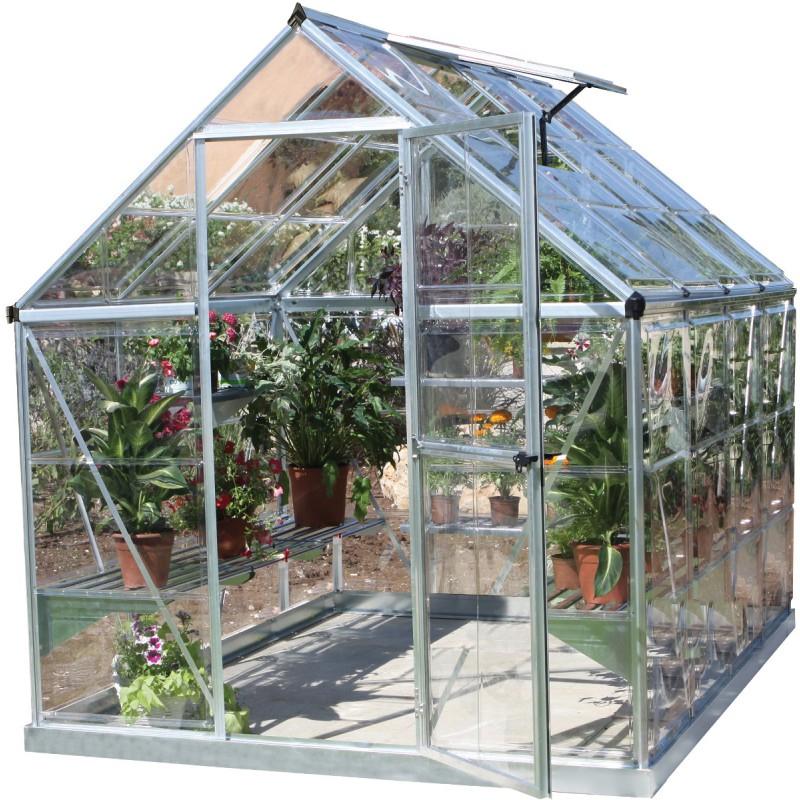 Serre De Jardin En Alu Et Polycarbonate 4,6M² Harmony à Serre De Jardin Polycarbonate